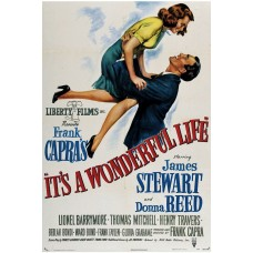 IT'S A WONDERFUL LIFE with James Stewart Vintage Poster