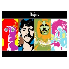 The Beatles Rare Colorful Vintage Movie Poster