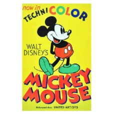 MICKEY MOUSE in Technicolor Vintage Movie Poster