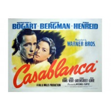 """CASABLANCA"" Rare Vintage Movie Poster"