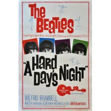 The Beatles A HARD DAYS NIGHT Vintage Movie Poster