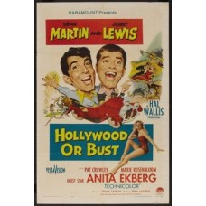 Hollywood or Bust Martin and Lewis Vintage Movie Poster