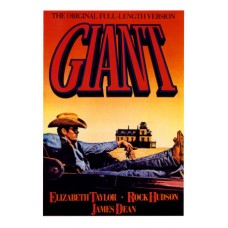 GIANT with Elizabeth Taylor n James Dean Vintage Movie Poster