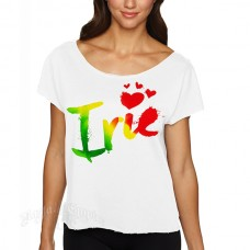 Rasta Irie Hearts White Dolman T-Shirt – Women's