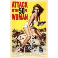 Attack of the 50 Foot Woman Vintage Movie Poster