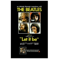 The Beatles in LET IT BE Vintage Movie Poster