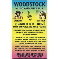 Woodstock Concert Rare Vintage Movie Poster