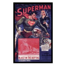 SUPERMAN in Blast in the Depths Vintage Movie Poster