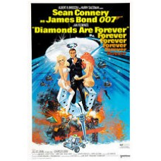 Diamonds Are For Ever James Bond 007 Vintage Movie Poster