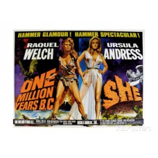 ONE MILLION YEARS BC w Raquel Welch Vintage Movie Poster